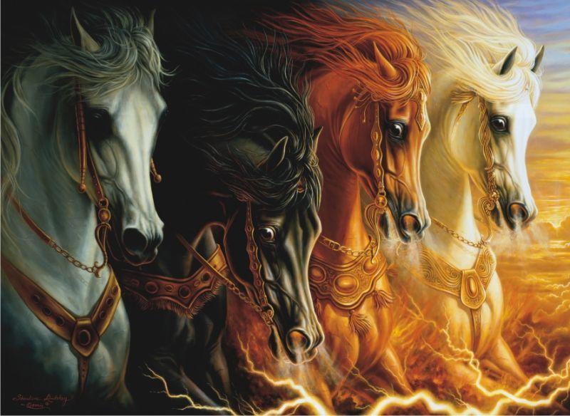 3116 Anatolian Puzzle Mahşerin Dört Atı 1000 Parça Puzzle