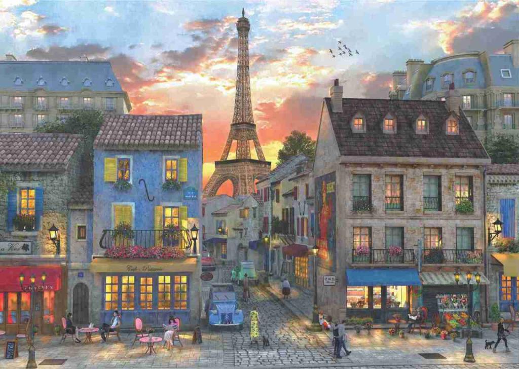 A4910 Anatolian Puzzle Paris Sokakları 3000 Parça Karton Puzzle