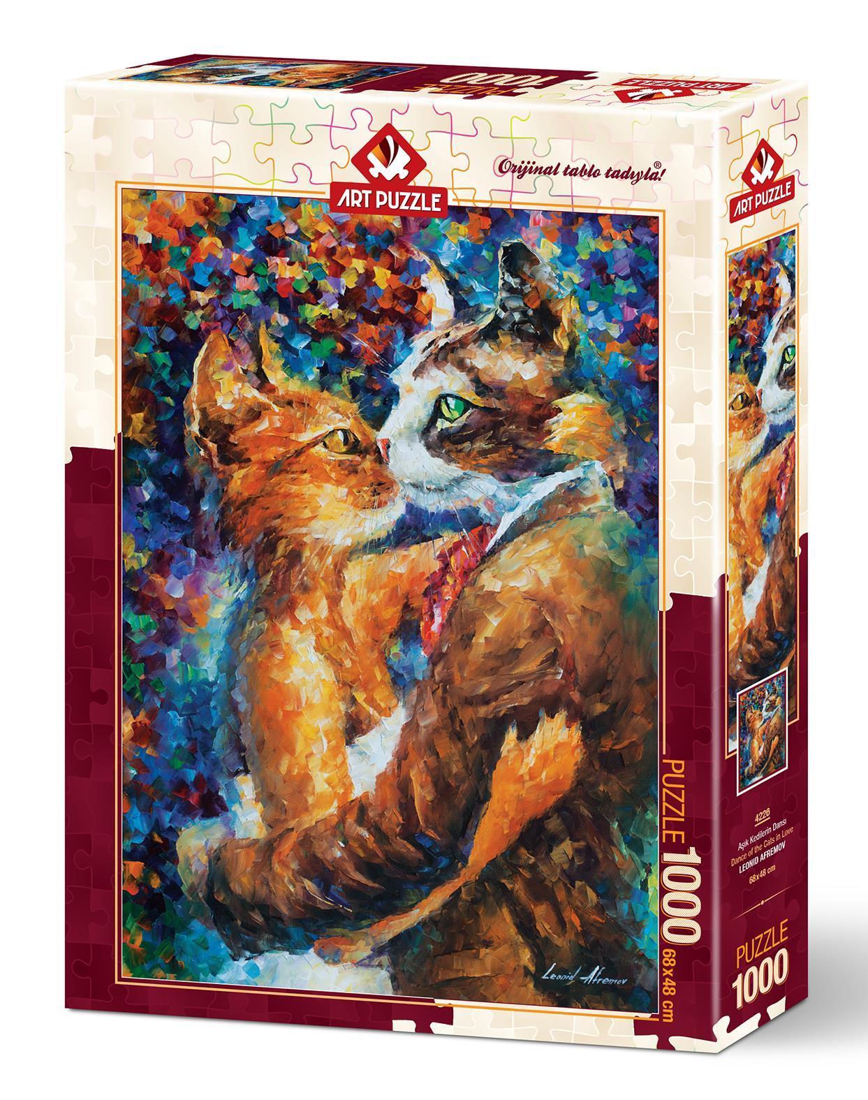 Art Puzzle 4226 Aşık Kedilerin Dansı 1000 Parça Puzzle