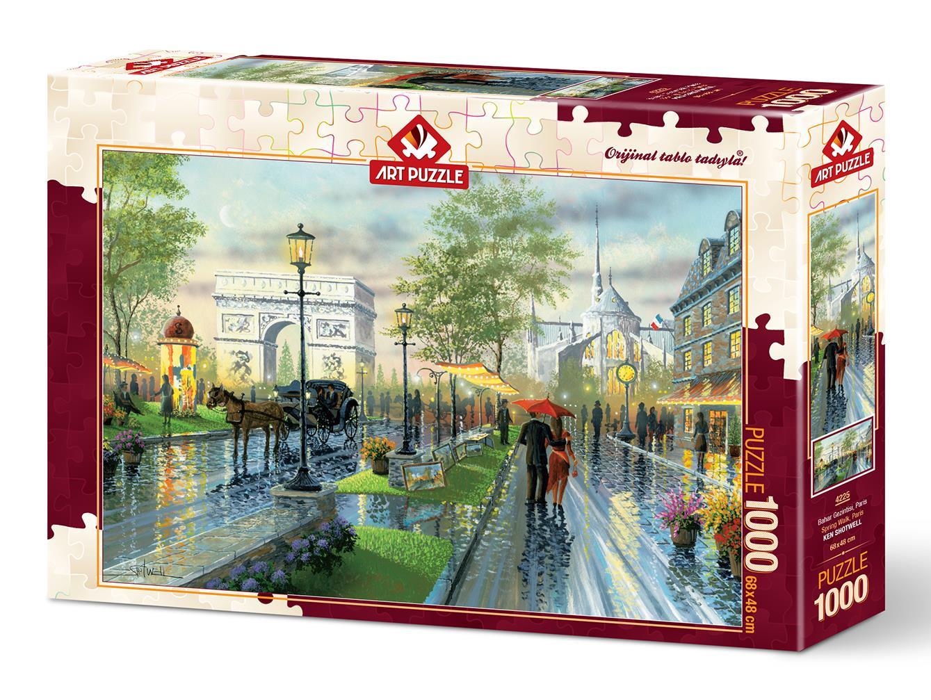 Art Puzzle 4225 Bahar Gezintisi, Paris 1000 Parça Puzzle