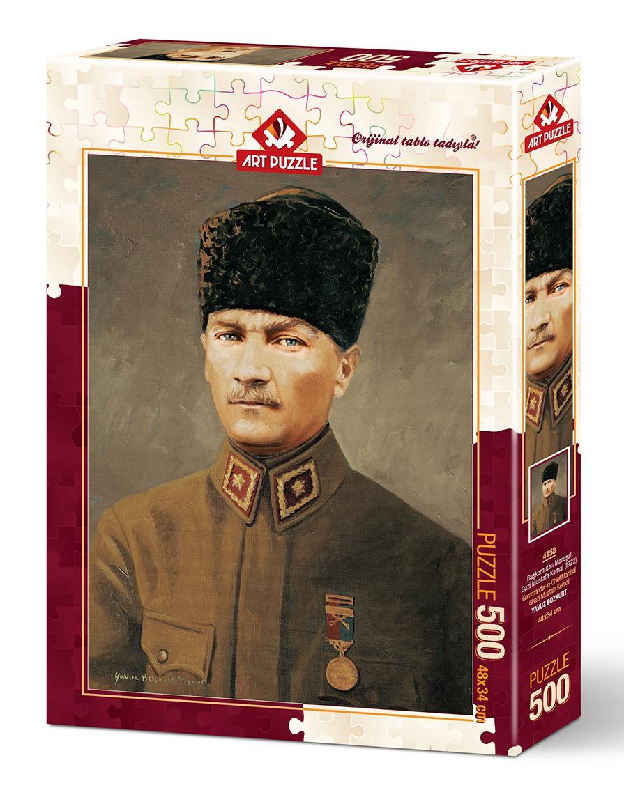 Art Puzzle 4158 Başkomutan Mareşal Gazi Mustafa Kemal Atatürk 500 Parça Puzzle