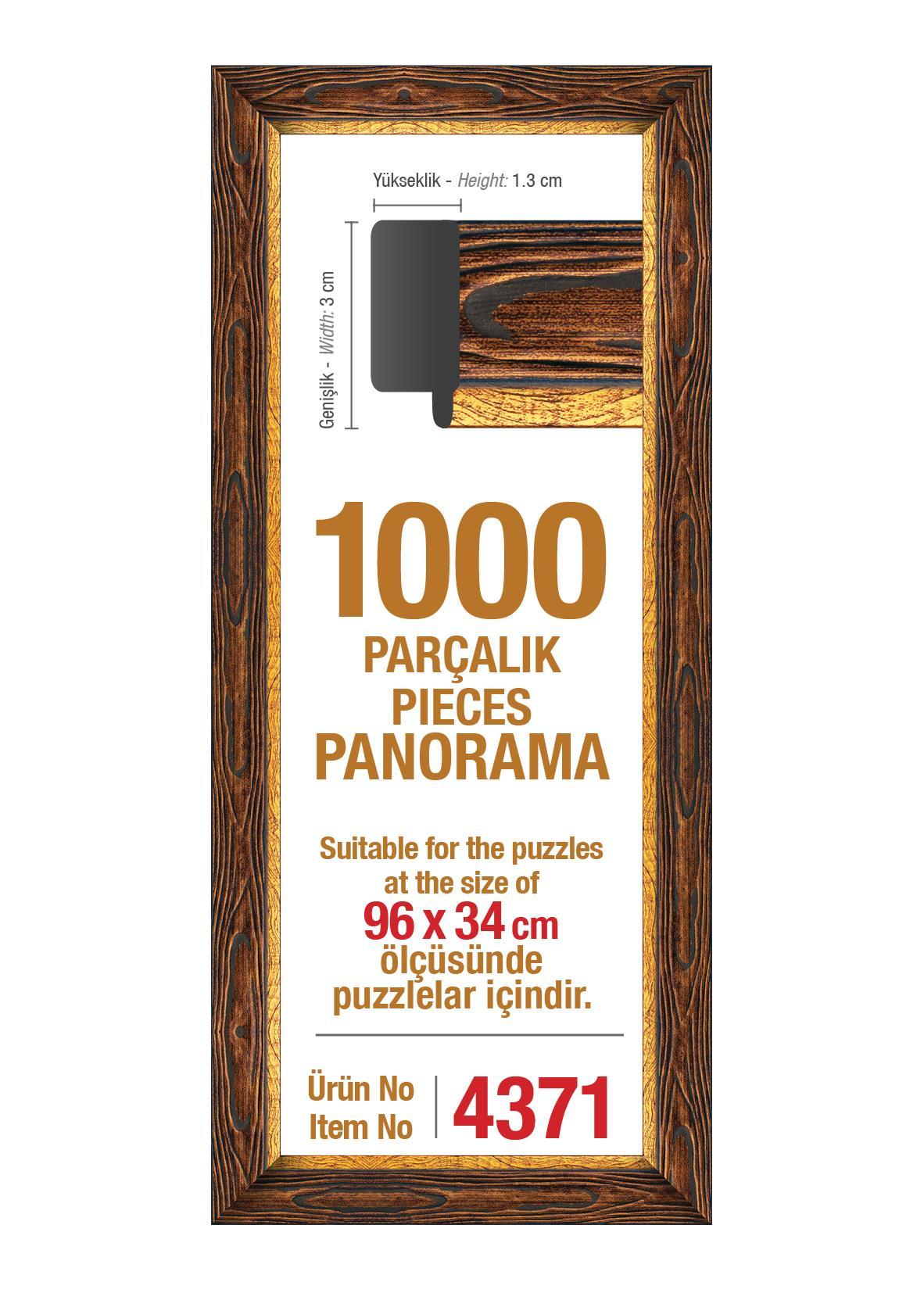 4567 Art Puzzle Çerçevesi 1000'lik Kahverengi Panorama Çerçeve