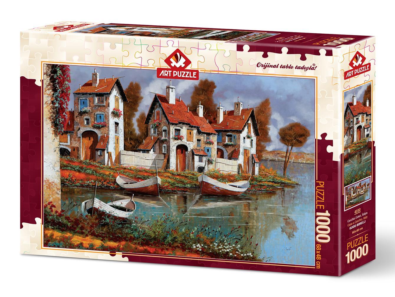 Art Puzzle 4232 Cerchıo Evleri, İtalya 1000 Parça Puzzle