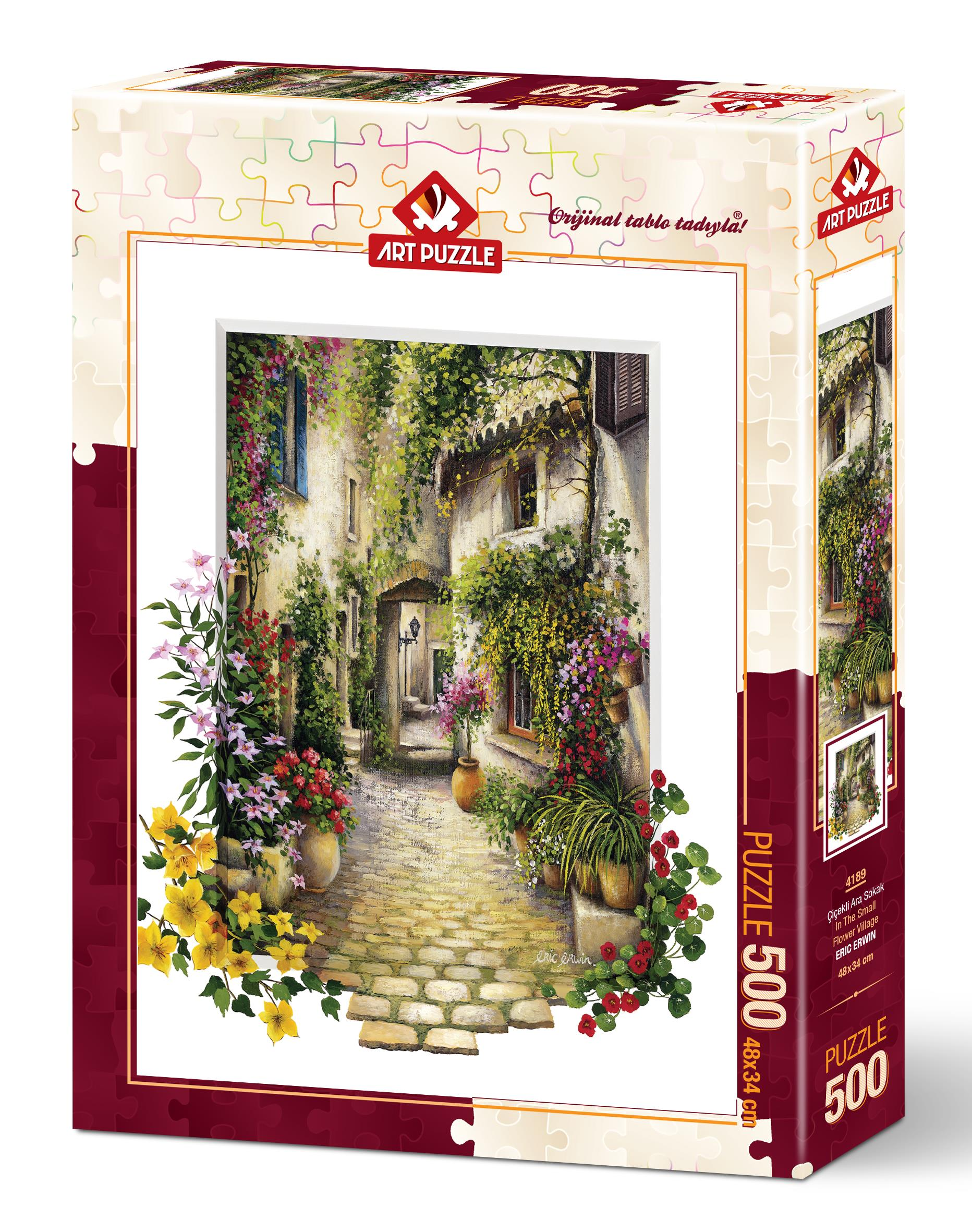 Art Puzzle 4189 Çiçekli Ara Sokak 500 Parça Puzzle