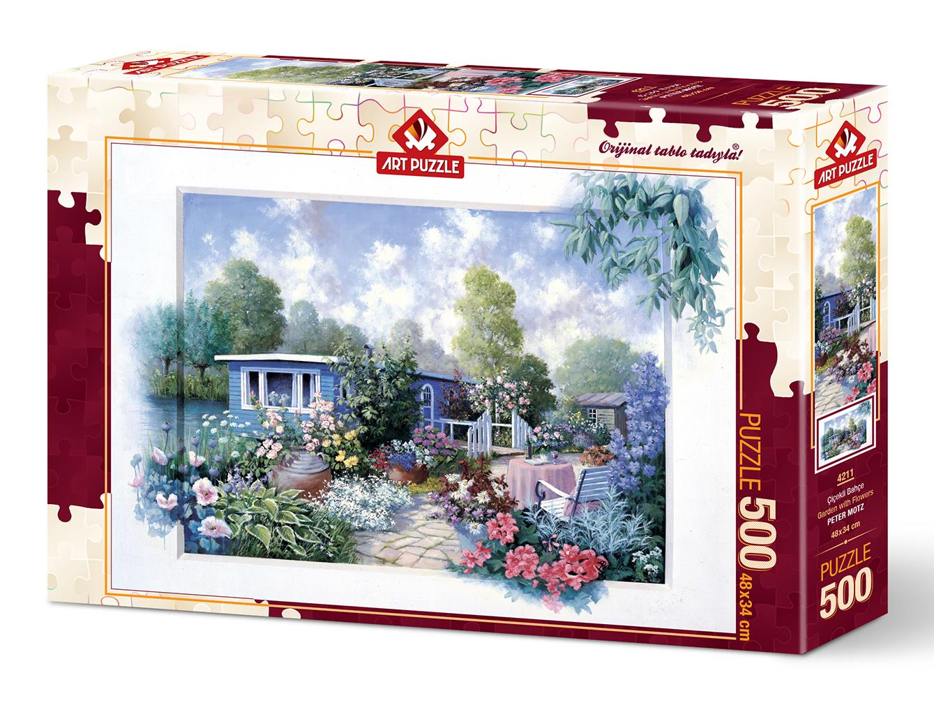 Art Puzzle 4211 Çiçekli Bahçe 500 Parça Puzzle