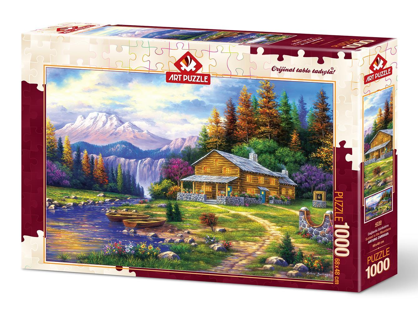 Art Puzzle 4230 Dağlarda Günbatımı 1000 Parça Puzzle