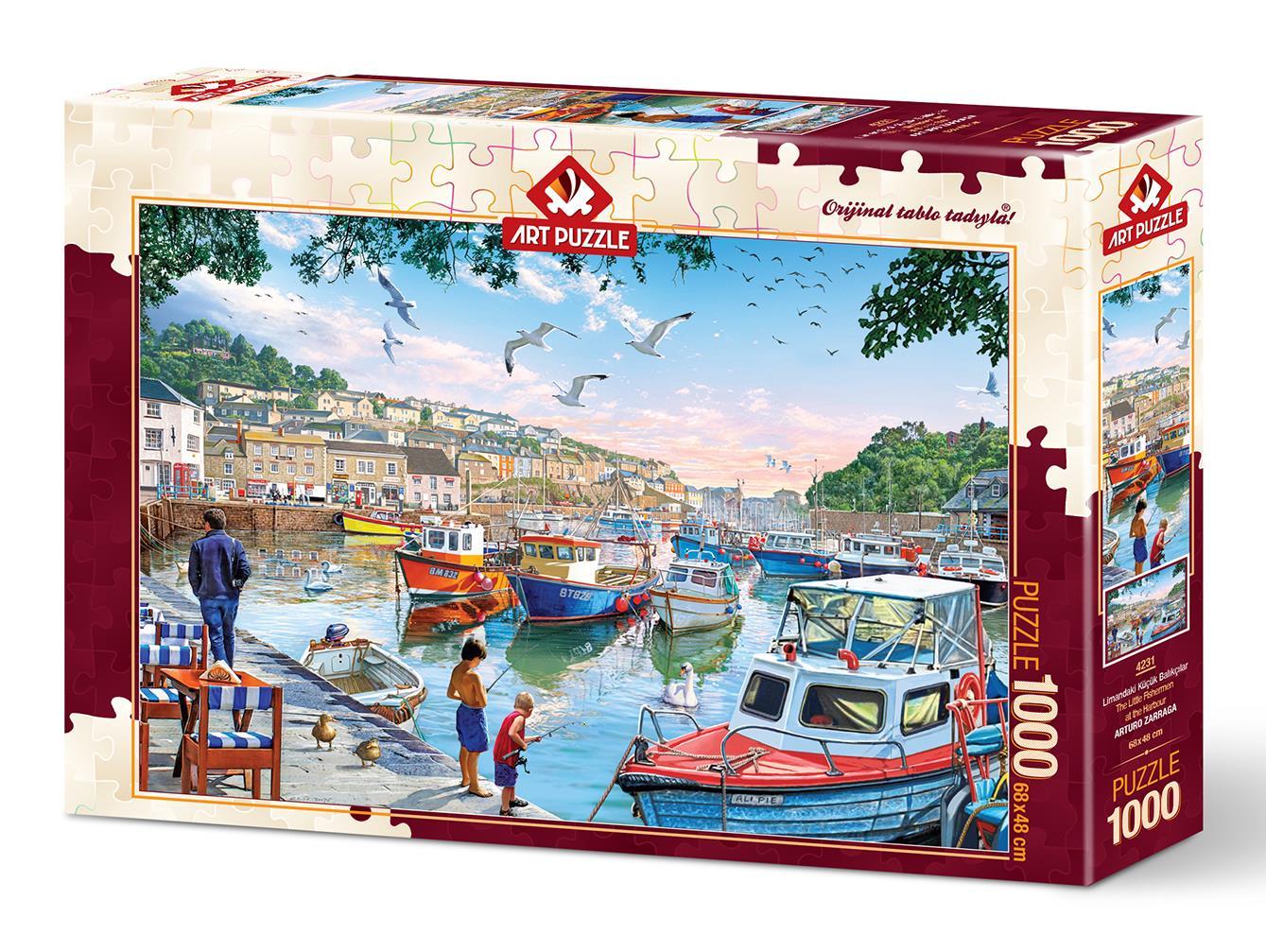 Art Puzzle 4231 Limandaki Küçük Balıkçılar 1000 Parça Puzzle