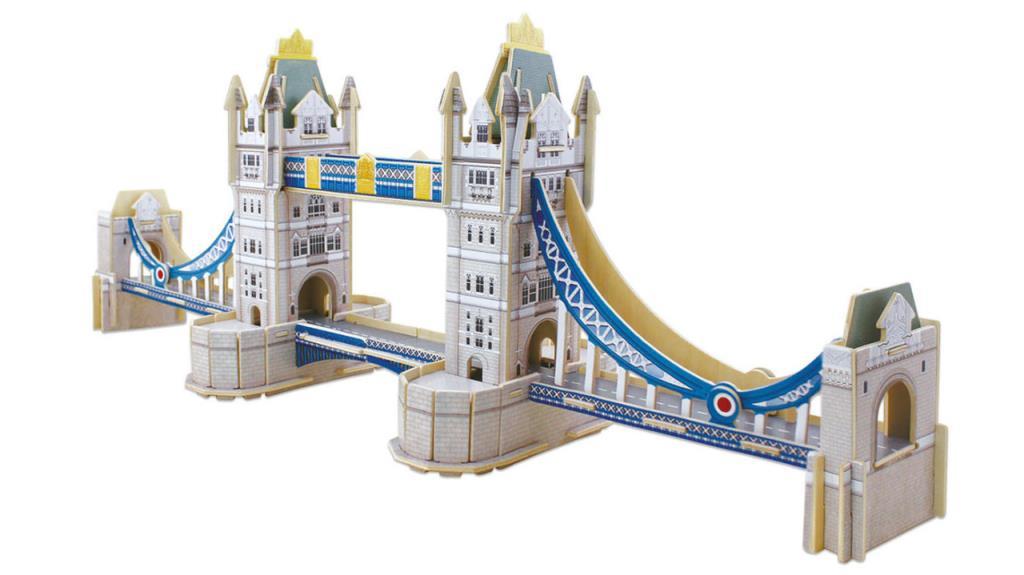 16999 Educa Puzzle Tower Bridge Monument 92 Parça 3D Ahşap Maket Puzzle
