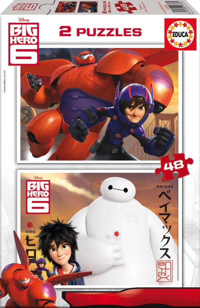16336 Educa Puzzle Big Hero, Disney 2 X 48 Parça Karton Puzzle