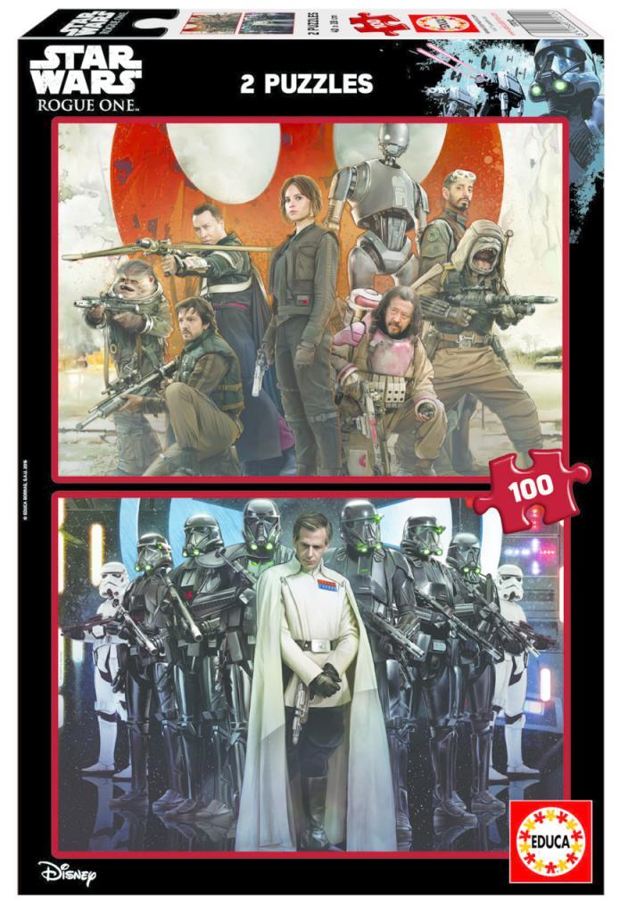 17012 Educa Puzzle Star Wars Rogue One: A Star Wars Story 2 X 100 Parça Karton Puzzle