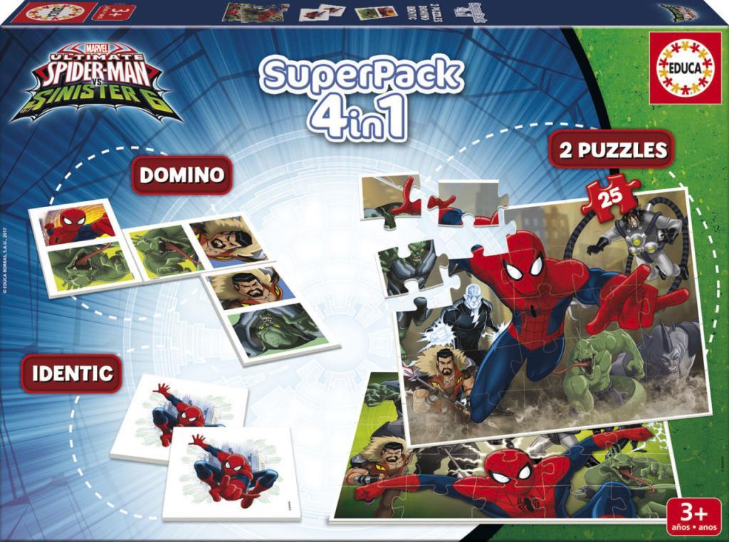 17197 Educa Puzzle Spider Man, Marvel Superpack Eğitim Seti