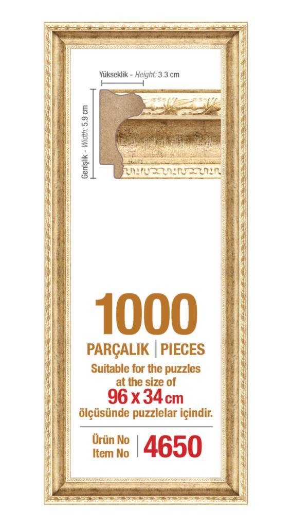 4650 1000 Parça Panorama Art Puzzle Çerçevesi