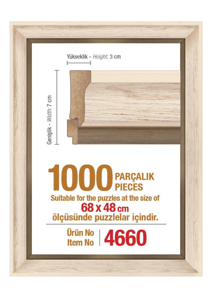 4660 1000 Parça Art Puzzle Çerçevesi