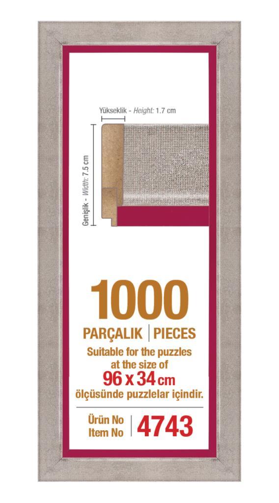 4743 1000 Parça Panorama Art Puzzle Çerçevesi