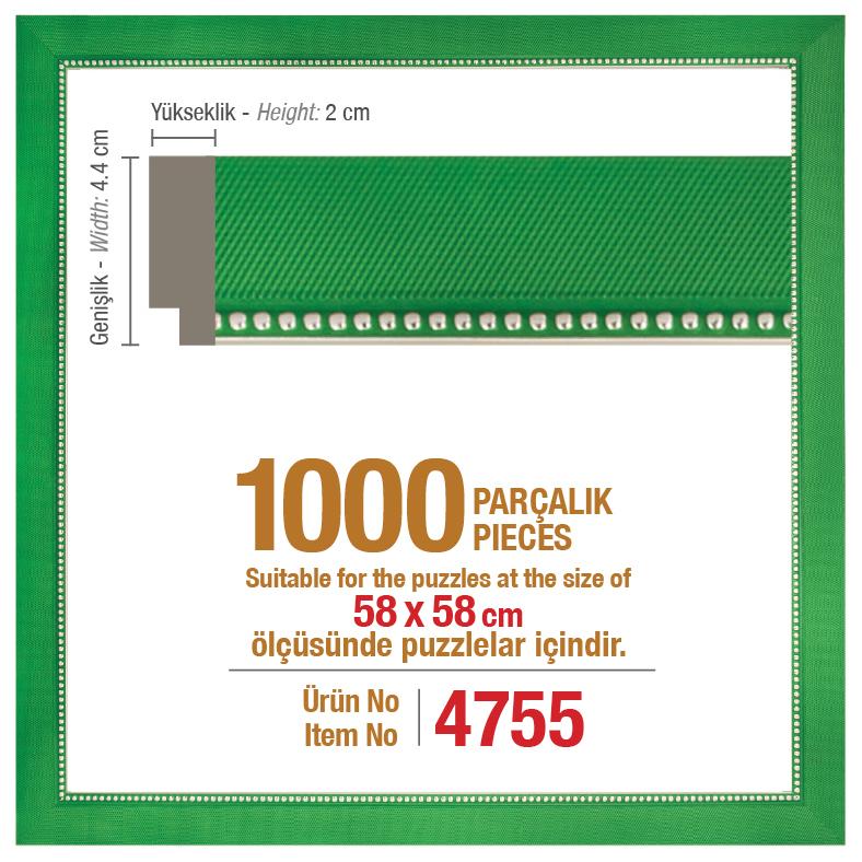 4755 1000 Parça Kare Art Puzzle Çerçevesi
