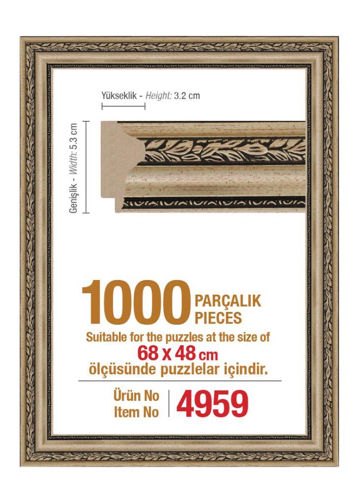 4959 1000 Parça Art Puzzle Çerçevesi