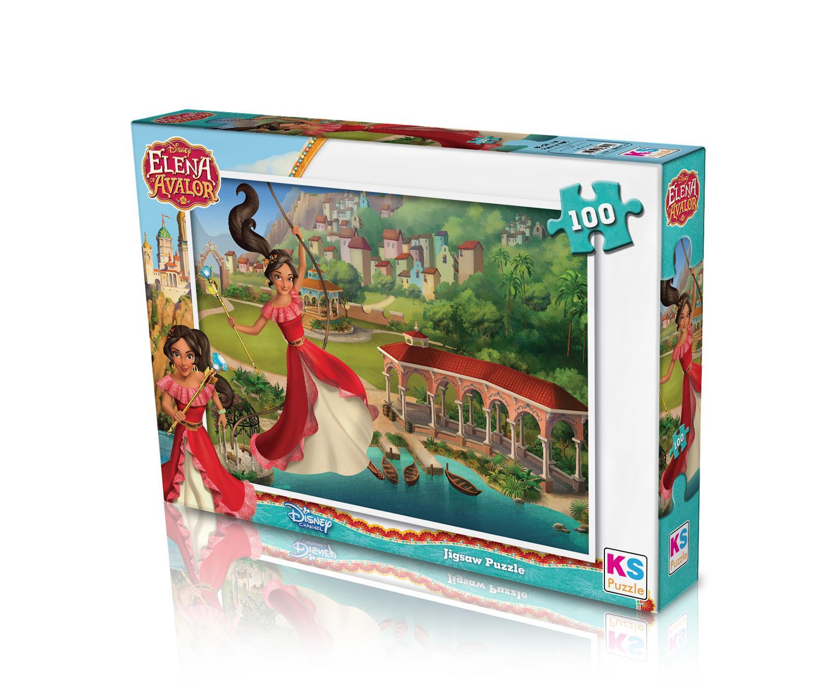 ELN714 Ks Games Elena 100 Parça Puzzle