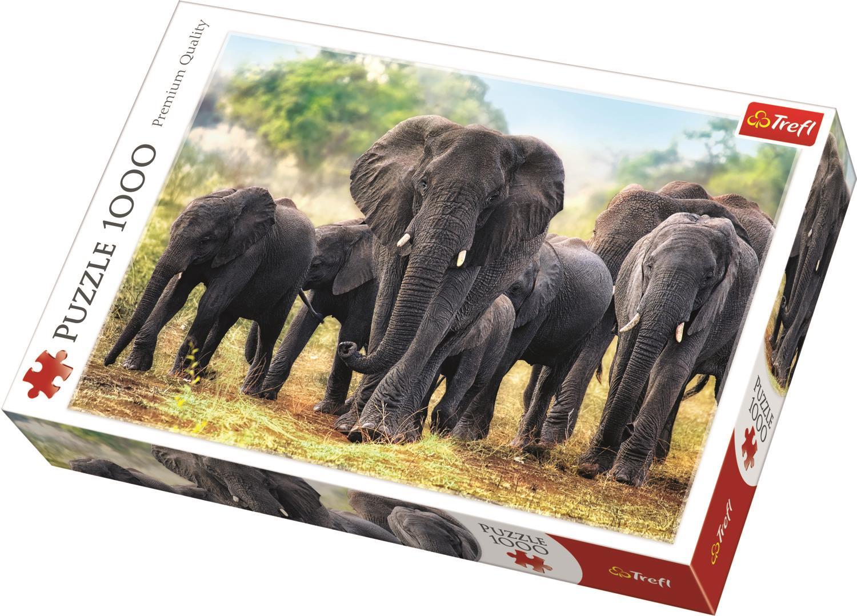 Trefl Puzzle 10442 African Elephants 1000 Parça Puzzle