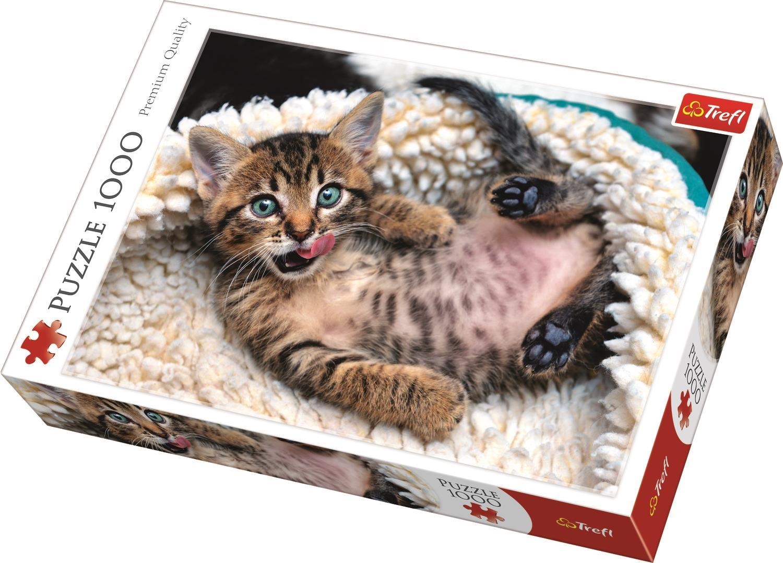 Trefl Puzzle 10448 Cheerful Kitten 1000 Parça Puzzle