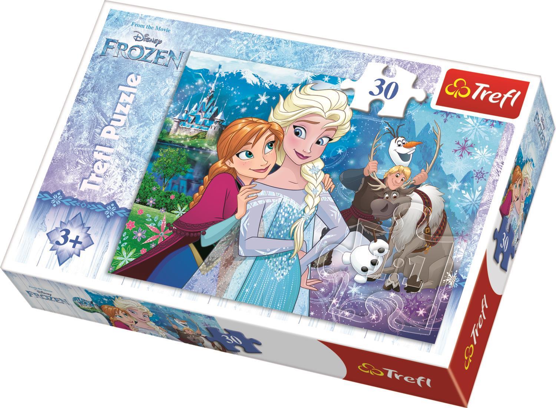 Trefl Çocuk Puzzle 18225 Frozen Unleash The Magic, Disney 30 Parça Puzzle