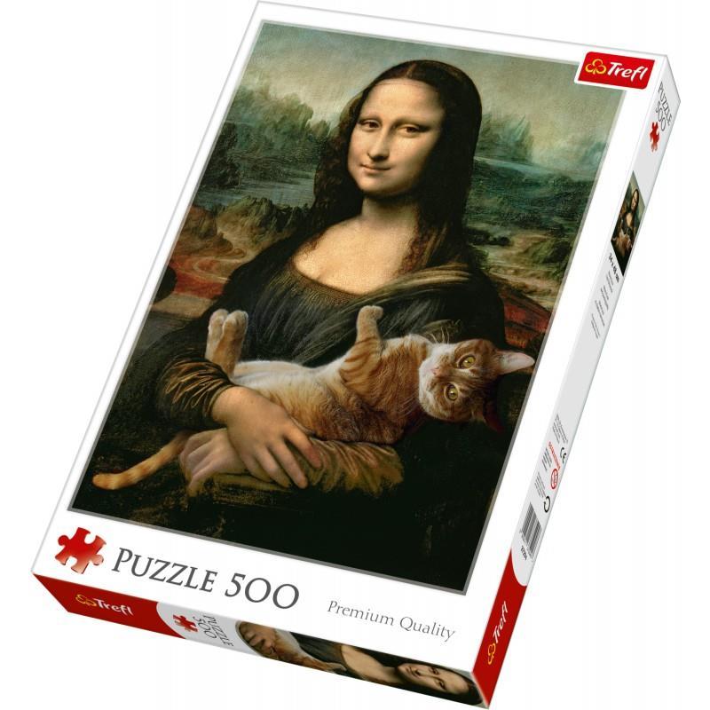 Trefl Puzzle 37294 Mona Lisa And Purring Kitty 500 Parça Puzzle