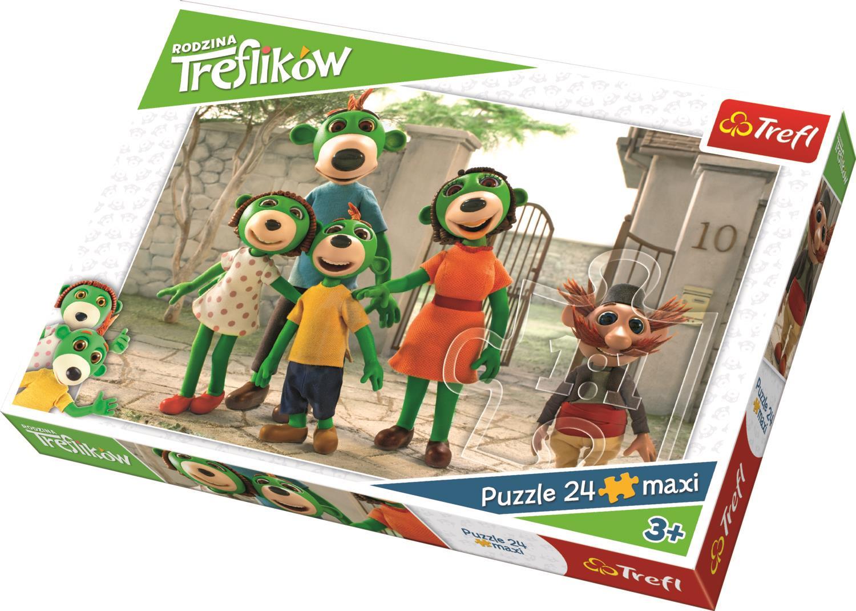 Trefl Çocuk Puzzle 14247 Studio, Treflik Family 24 Parça Maxi Puzzle