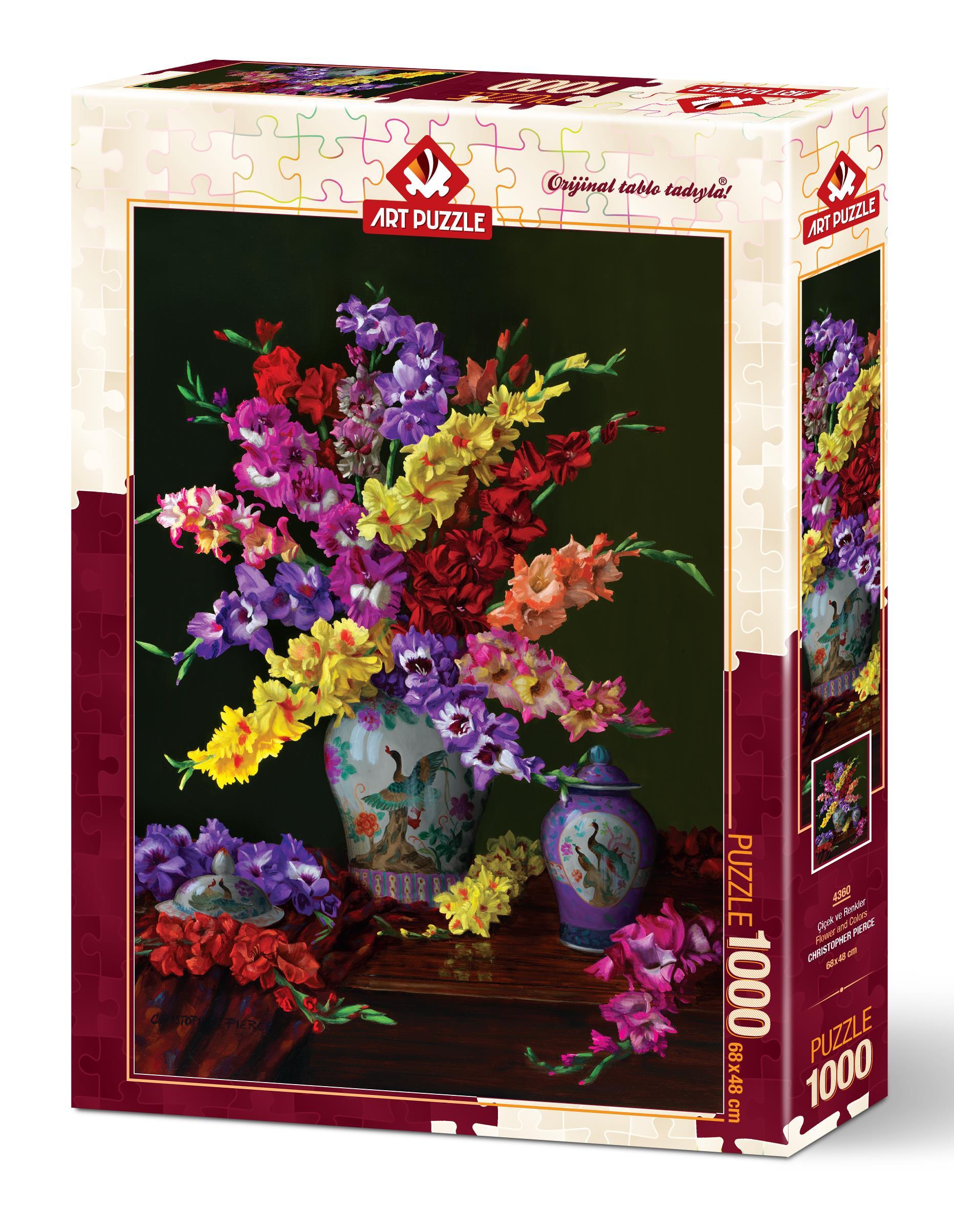 4360 Art Puzzle Cicek Ve Renkler 1000 Parca Puzzle