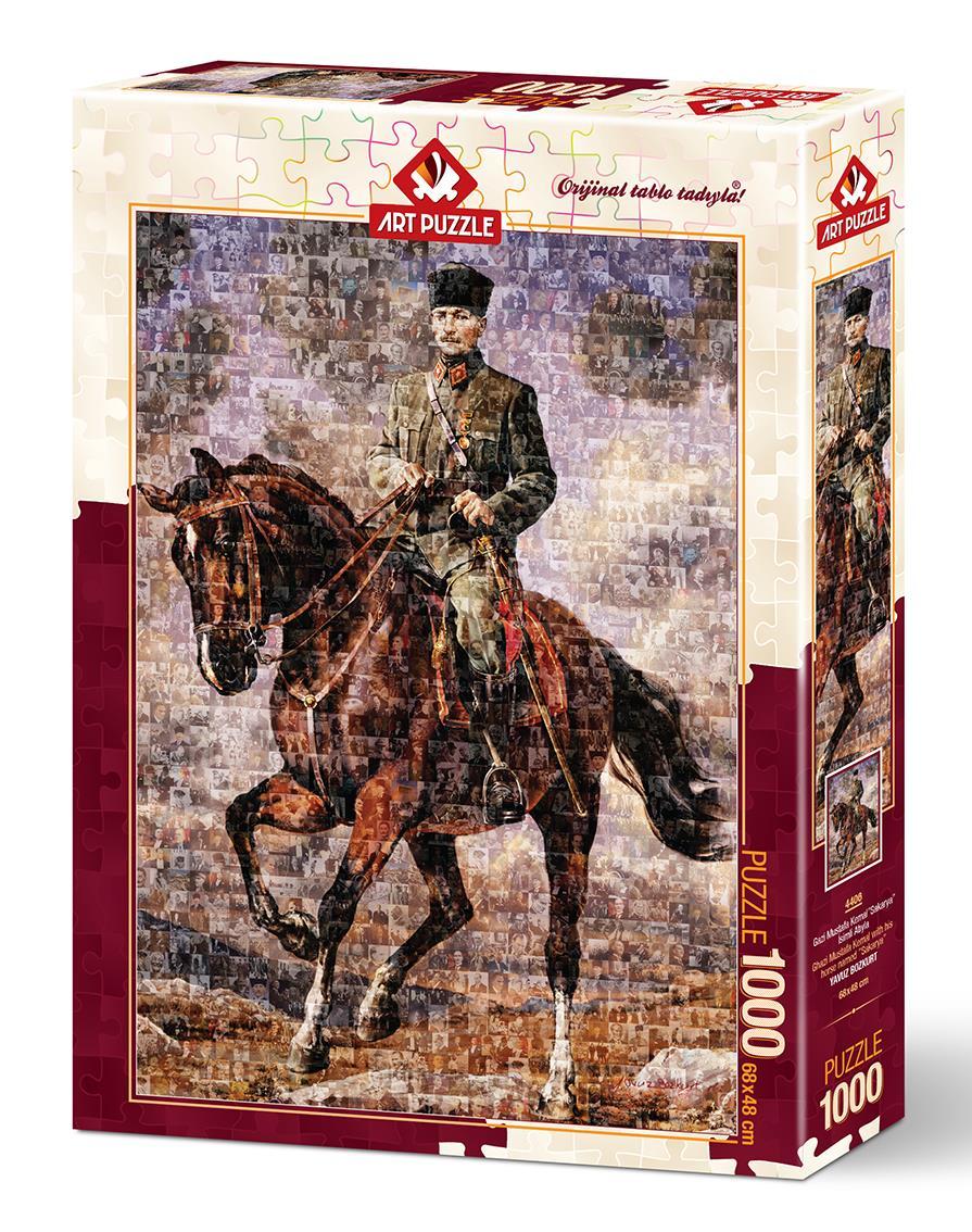 Art Puzzle 4406 Atatürk Sakarya İsimli Atıyla Kolaj 1000 Parça Puzzle