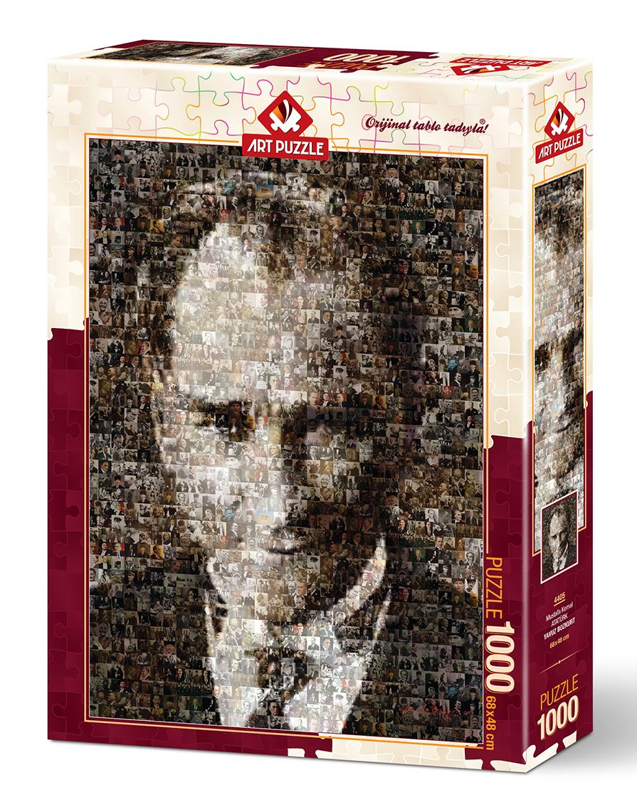 4405 Art Puzzle Mustafa Kemal Ataturk Kolaj Puzzle 1000 Parca Puzzle