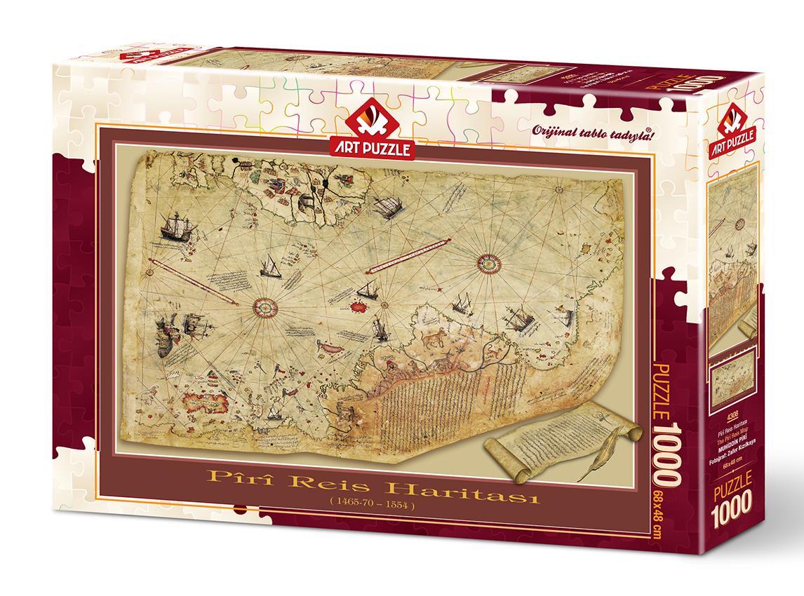 Art Puzzle 4308 Piri Reis Haritası 1000 Parça Puzzle